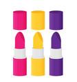 flat lipstick set vector image