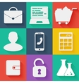 Flat white business and education icons set vector image vector image