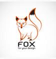 fox design on white background wild animals vector image vector image
