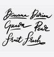 fresh fruit and guava hand written typography vector image