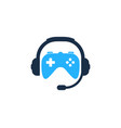 game podcast logo icon design vector image