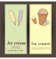 Hand drawn with ice Cream vector image vector image