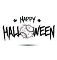 happy halloween and baseball ball of blots vector image