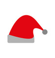 hat of santa claus in red color traditional vector image