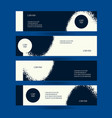 horizontal creative flyers set grunge dark blue vector image vector image