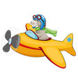 horse riding airplane on white backgroud vector image