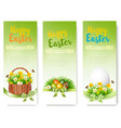 hree easter sale banners colorful eggs and spring vector image vector image