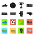 isolated object soccer and gear symbol set of vector image vector image