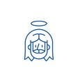 jesus line icon concept jesus flat symbol vector image