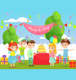 kids birthday party in the vector image vector image