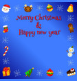 lovely christmas card vector image vector image
