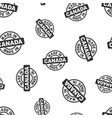 made in canada stamp seamless pattern background vector image vector image