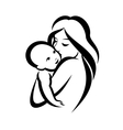 Mother and baby stylized symbol
