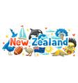new zealand background design vector image