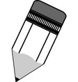 pencil icon in black on a white background vector image vector image