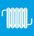 radiator icon white vector image vector image