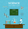 science day card school tools for education vector image