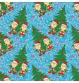 Seamless Christmas background babies and tree vector image vector image
