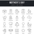 set line icons mothers day vector image