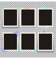 set of isolated realistic empty photo vector image vector image