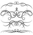 set of vintage decorative curls vector image vector image