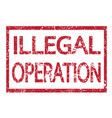 stamp text illegal operation vector image