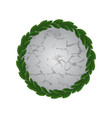 stone with circle leaves frame vector image vector image