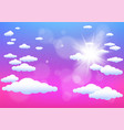 sun and clouds summer template vector image vector image