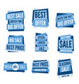 super sale set special offers banner vector image vector image
