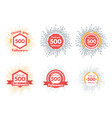 thank you followers icons or badge set vector image vector image