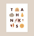 thanksgiving fall greeting card invitation vector image