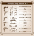 vintage linear ornate decorative elements vector image vector image