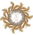 Watercolor cereal wreath vector image vector image