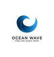 wave logo design vector image vector image