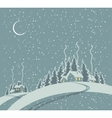 winter landscape with village vector image