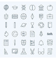 Line Education and Science Icons Set vector image
