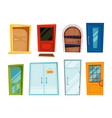 closed doors of different types vector image
