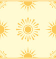 yellow sun planet seamless pattern background star vector image