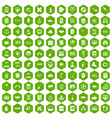 100 student icons hexagon green vector image vector image