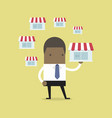african businessman holding shop vector image vector image