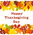 Autumn background Traditional Thanksgiving day vector image vector image