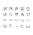 banner line icons signs set outline vector image vector image