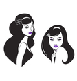 beautiful woman icon vector image vector image