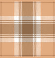 beige and brown tartan plaid scottish pattern vector image vector image