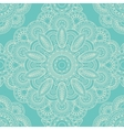 Blue lace boho doodle seamless pattern vector image