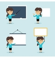 Businesswoman presentation set vector image vector image