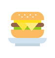 cheese burger food and gastronomy set flat icon vector image vector image