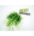 Christmas tree branch toy New Year Concept vector image vector image