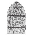 church door work vintage engraving vector image vector image