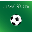 Classic Soccer background football poster vector image